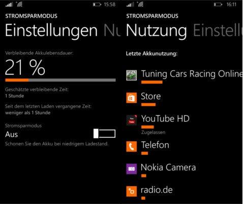 Nokia Lumia 630 Akkuwerte Test