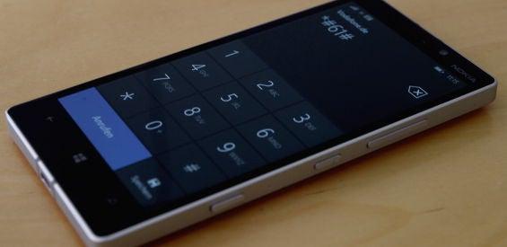 Steuercode in der Telefon-App eines Nokia Lumia 930
