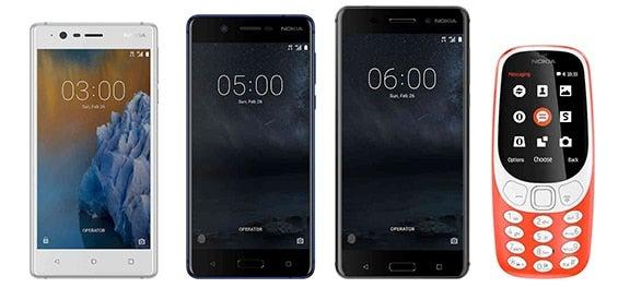 Nokia MWC 2017 Nokia 3 Nokia 5 Nokia 6 und Nokia 3310 (2017)