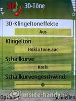 Nokia N73 Musik Edition: 3D-Töne