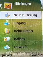 Nokia N73 Musik Edition: Mitteilungen