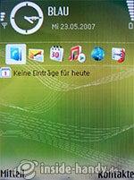 Nokia N73 Musik Edition: Startbildschirm