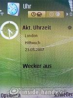Nokia N73 Musik Edition: Uhr