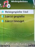 Nokia N73 Musik Edition: Wiedergabelisten