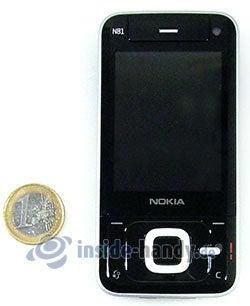 Nokia N81: Größenverhältnis