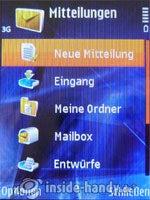 Nokia N81: Mitteilungen