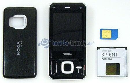 Nokia N81: offenes Gerät vorne