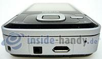 Nokia N81: Seitenansicht unten