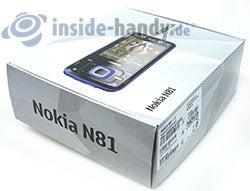 Nokia N81: Verpackung