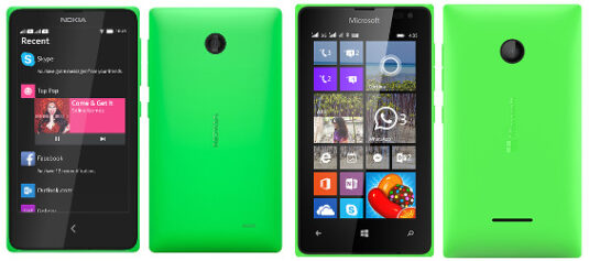 Nokia X vs. Lumia 635