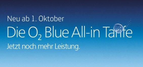 O2 Blue Tariferweiterungen Oktober 2015