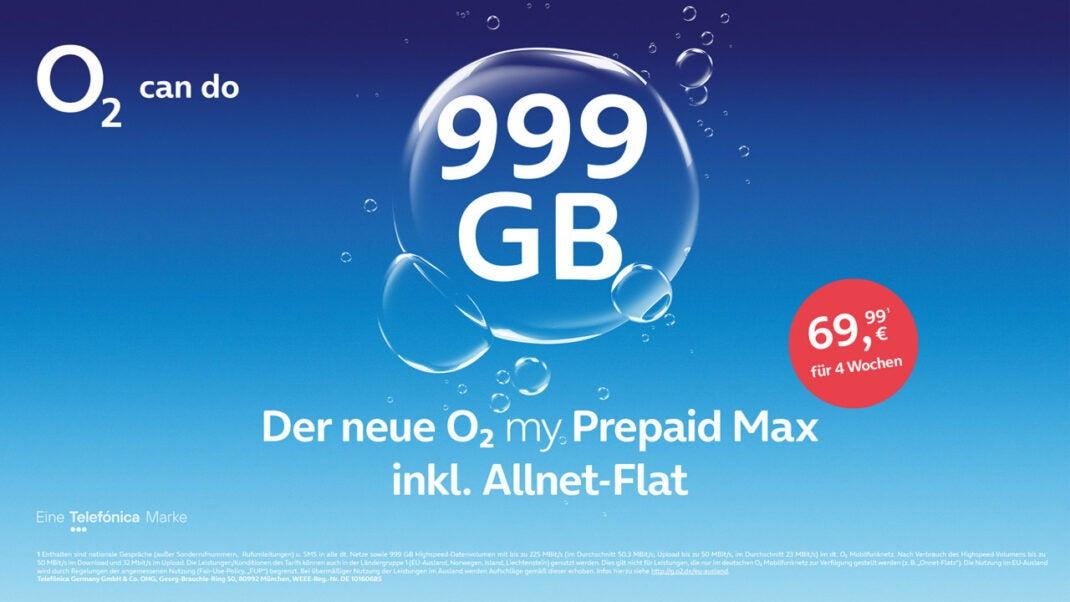 O2 my Prepaid Max Tarif Vermarktungsbild