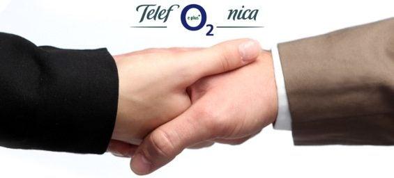 Logos Telefonica O2 E-Plus, Handshake