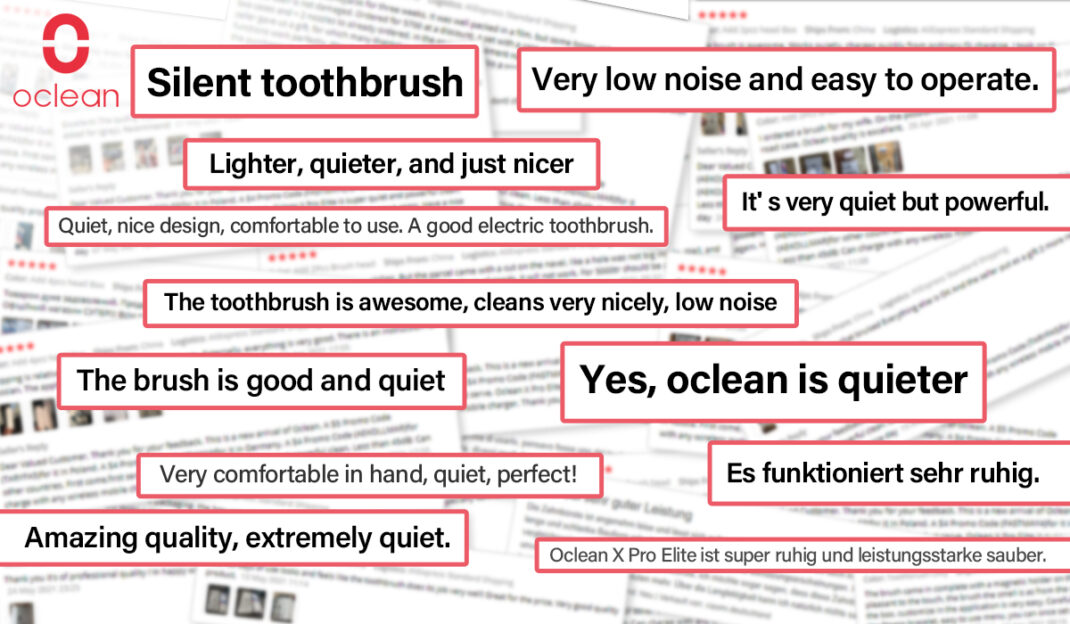 Bewertungen zur elektrischen Zahnbürste von Oclean