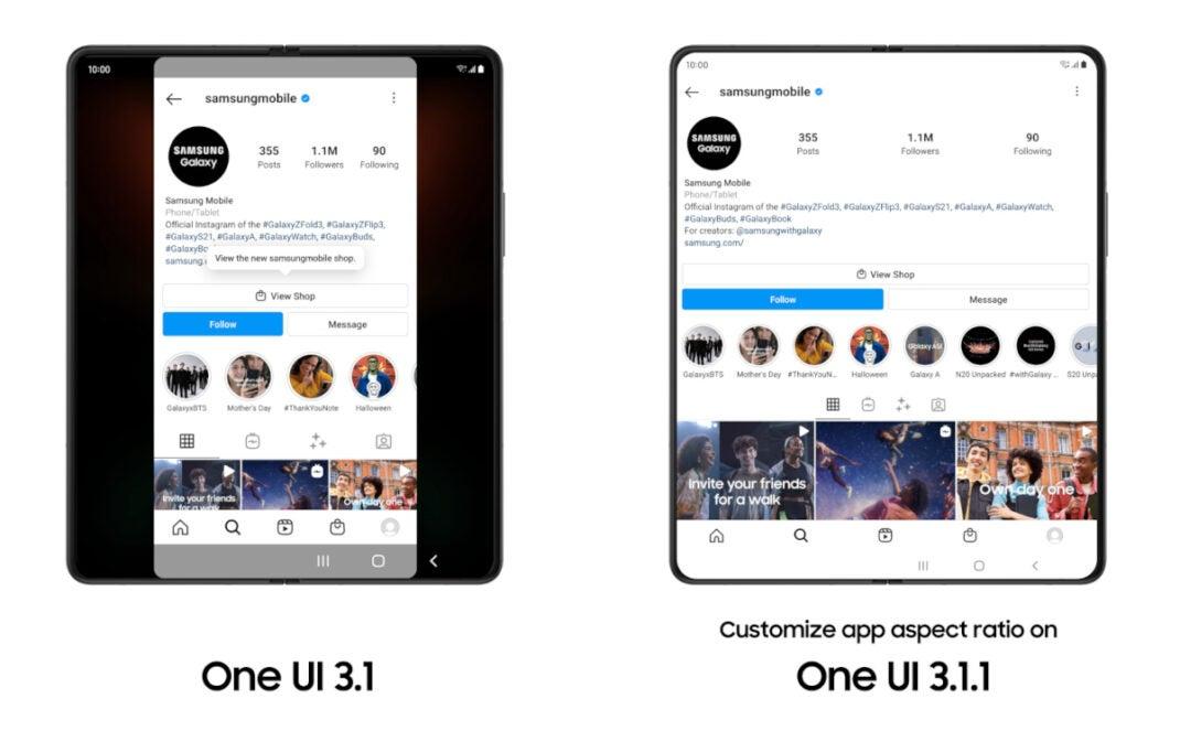 One UI 3.1.1 Update für Samsung-Foldables