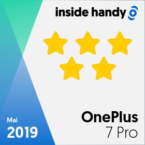 Testsiegel des OnePlus 7 Pro mit 5 von 5 Sternen