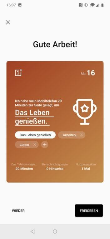 Zenmodus des OnePlus 7 Pro