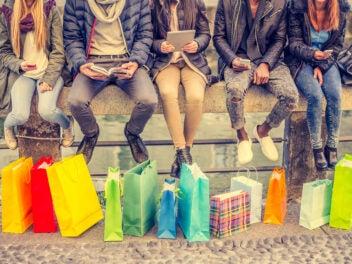 Online-Shopping mit Smartphones und Tablet