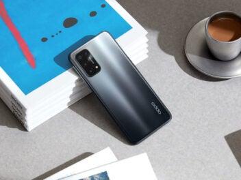 Oppo A Serie Smartphone liegt auf einem Tisch