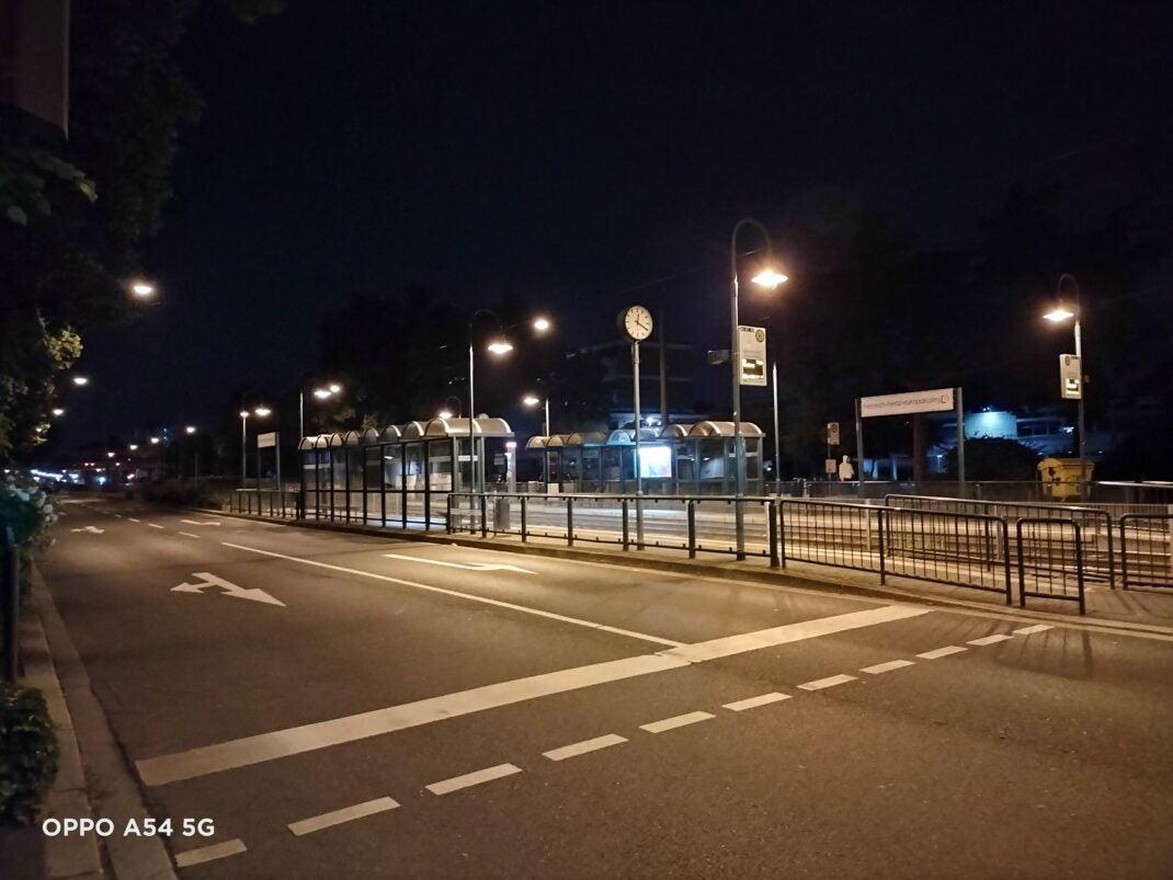 Nachtaufnahme mit dem Oppo A54 5G