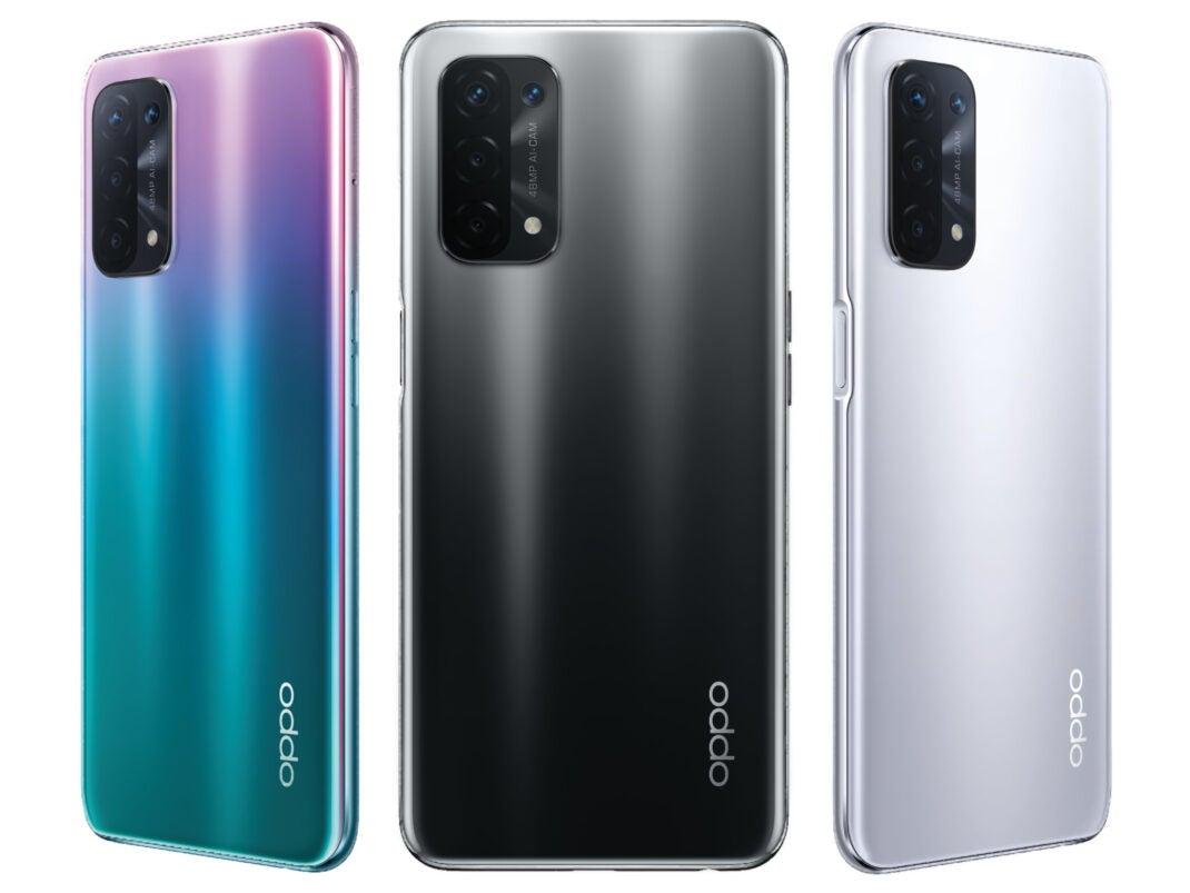 Oppo A54 und A74 5G in allen Farben