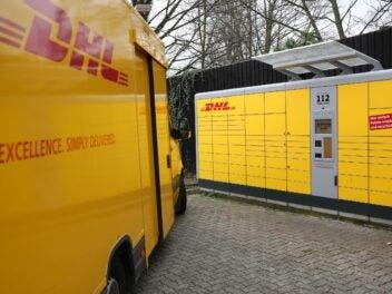 Eine Packstation von DHL