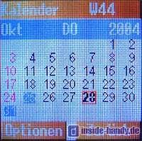 Panasonic X300 - Kalender