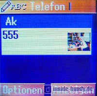 Panasonic X300 - Telefonbuch
