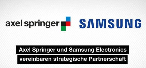 Partnerschaft Axel Springer und Samsung