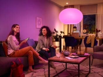Philips Hue Beleuchtung, Wohnzimmer