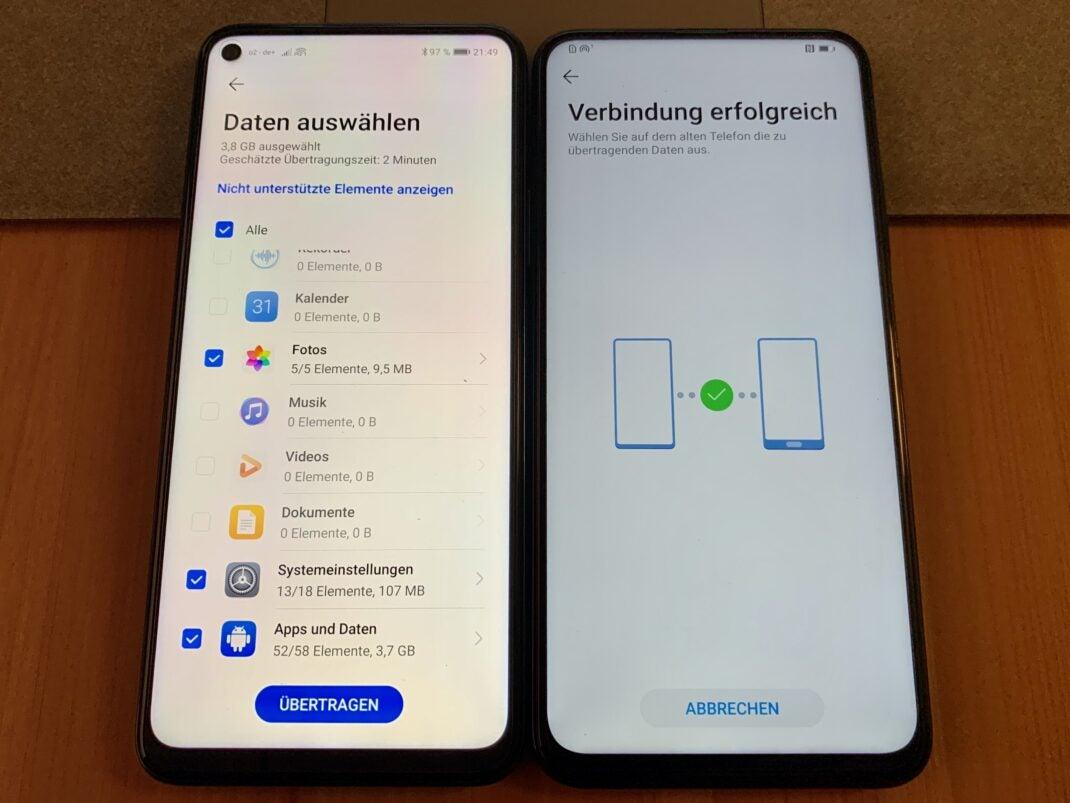 Phone Clone übertragen