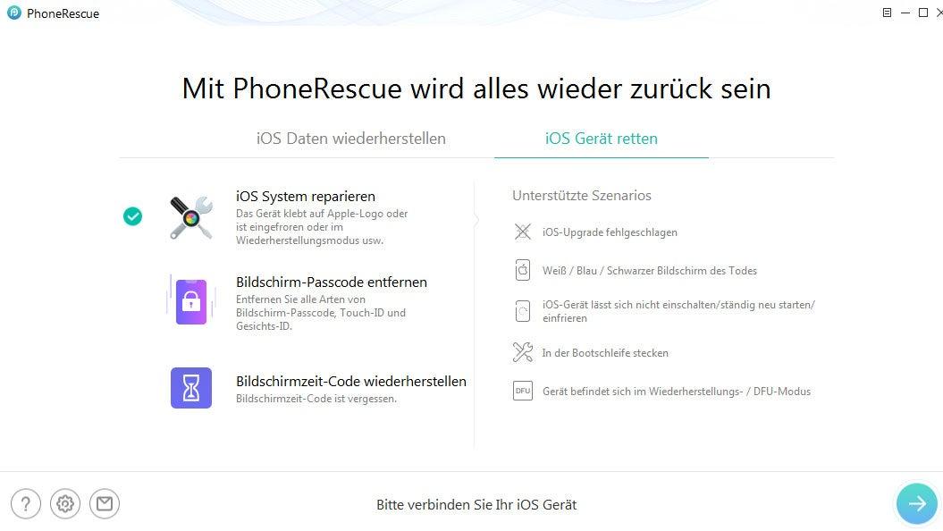iOS-Gerät retten mit iMobie PhoneRescue