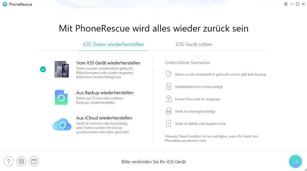 Daten wiederherstellen - mit PhoneRescue