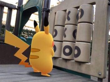 gelbes Pokémon von Hinten fotografiert