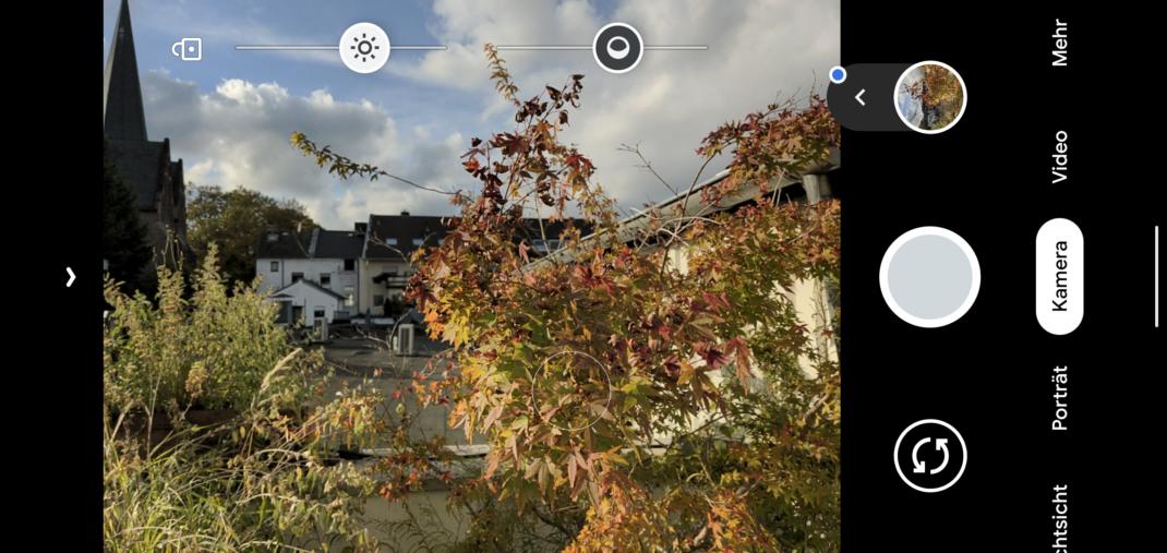 Screenshot der Kamera-App des Pixel 4