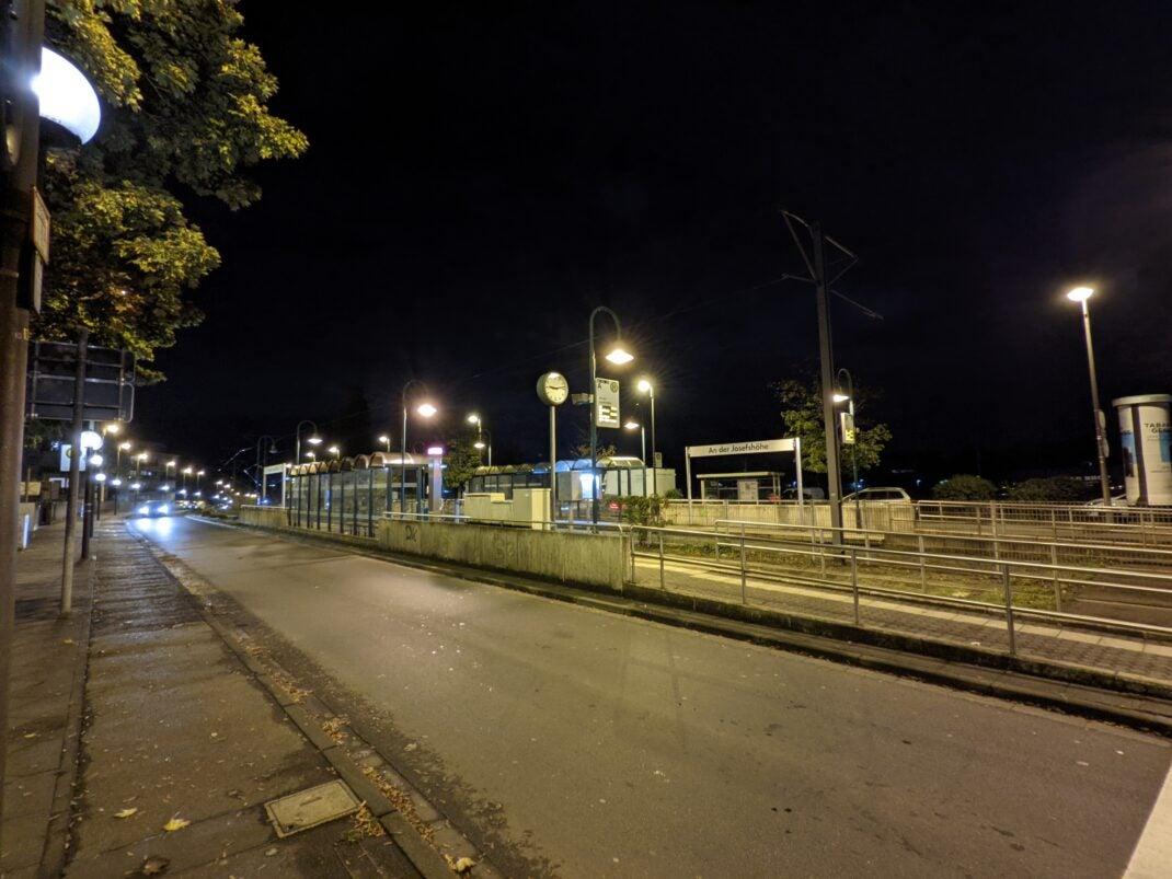 Die Weitwinkel-Kamera bei Nacht