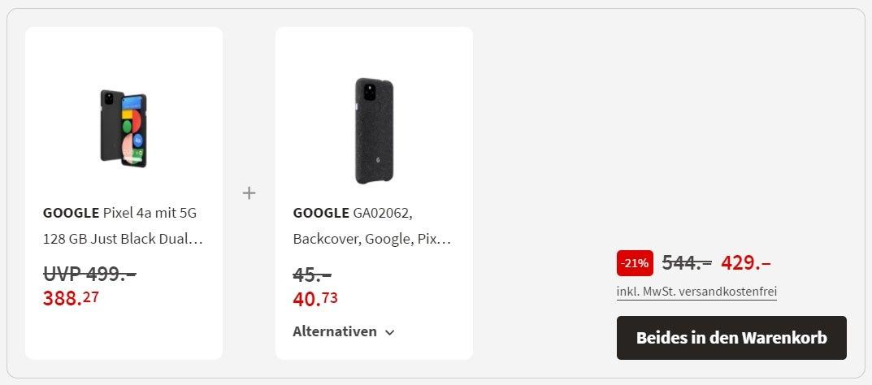 Google Pixel 4a 5G Angebot bei MediaMarkt