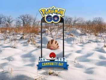 Pokémon Qiekel in Schneelandschaft
