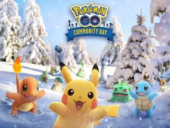 Pokémon in Winterlandschaft