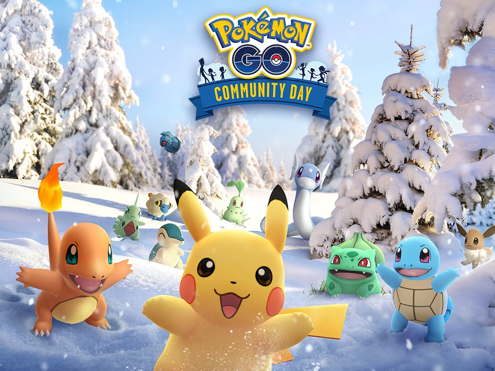 Pokémon in Winterlandschaft