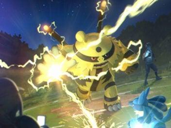 Pokémon Go PvP Update: Pokémon, das ein anderes Pokémon angreift