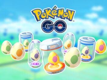 Euer und Brutmaschinen von Pokémon Go beim Schlüpfmarathon