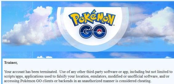Pokémon GO-Meldung-Sperre