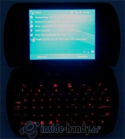 Qtek 9000: Beleuchtung