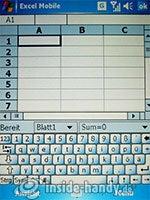 Qtek 9000: Excel