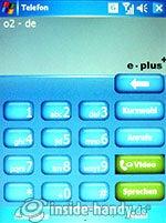 Qtek 9000: Nummerneingabe
