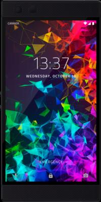 Razer Phone 2 Schwarz Front Tabellenbild