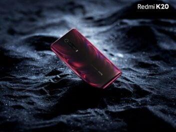 Die rote Rückseite des Xiaomi Redmi K20.