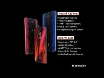 Die Daten des Xiaomi Redmi K20 und Redmi K20 Pro.