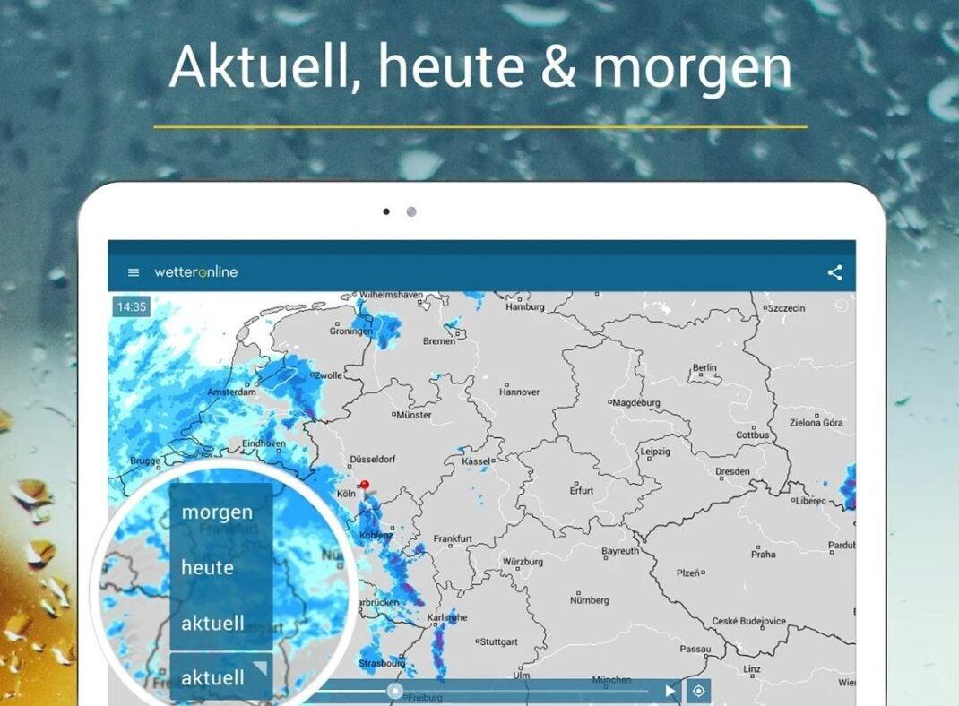 Regenradar von Wetter Online